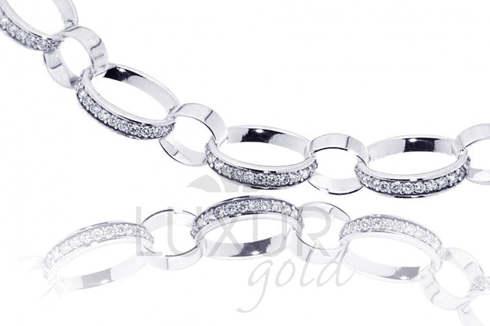 Zlatý náhrdelník se zirkony dámský Briline 1490421/45cm