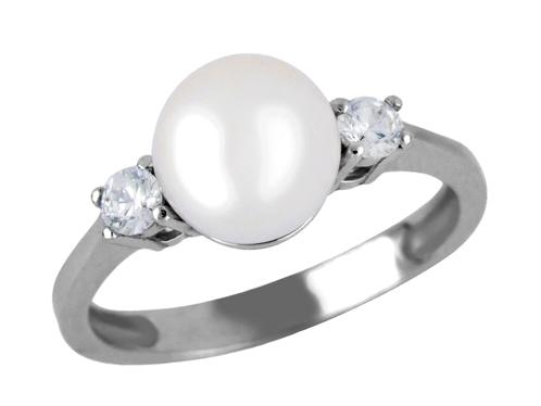 Diamantový prsten s perlou 4024507