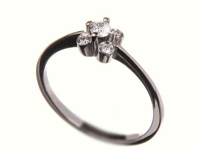 Zlatý prsten s brilianty 37607