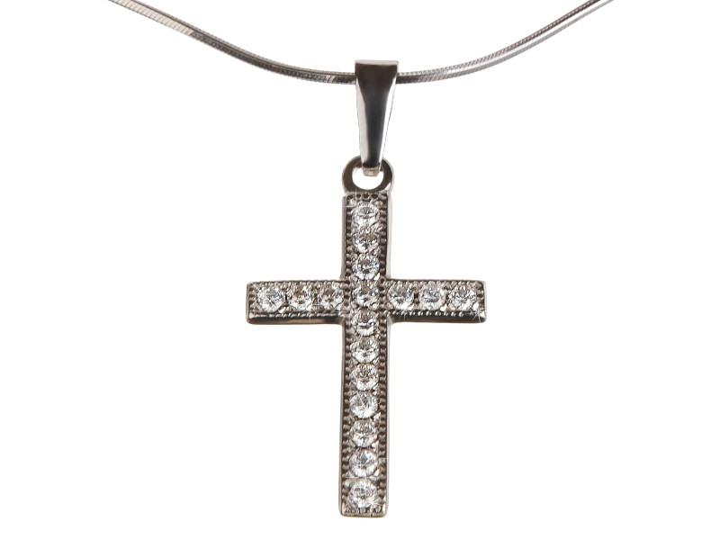 zlatý křížek s brilianty 9007