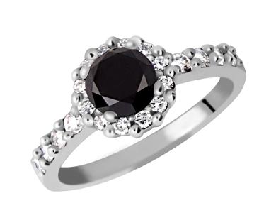 Luxusní briliantový prsten s černým diamantem 14043897