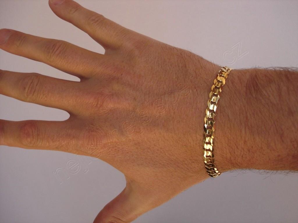 1eedeb6a5 Zlatý pánský náramek 23cm Briline 3040469n | Zásnubní a diamantové ...