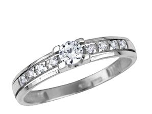 Zlatý prsten s brilianty bpw44307