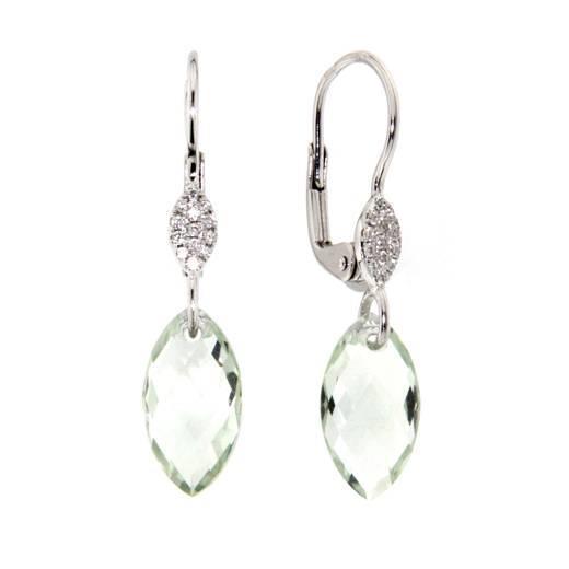 Náušnice s diamanty a ametystem Briline 388-0376.0.00.83