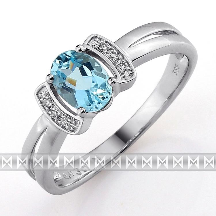 Prsten s diamanty a topazem Briline 3860560-0-54-93