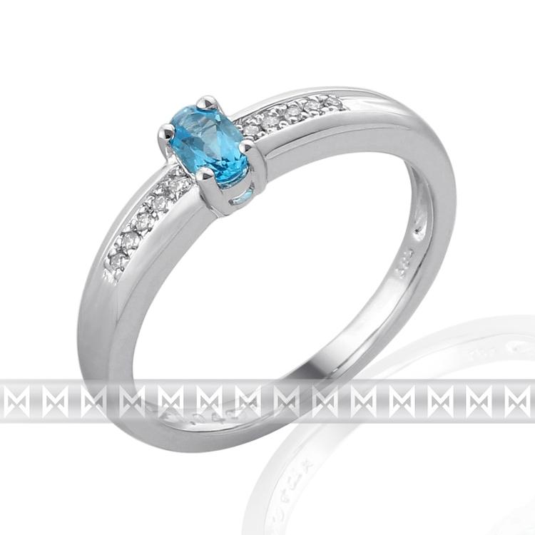 Prsten s diamanty a topazem 3861145-0-53-93