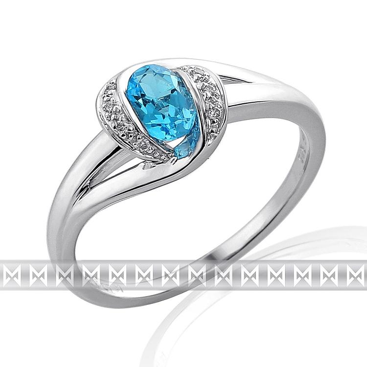 Prsten s diamanty a topazem 3861939-0-54-93