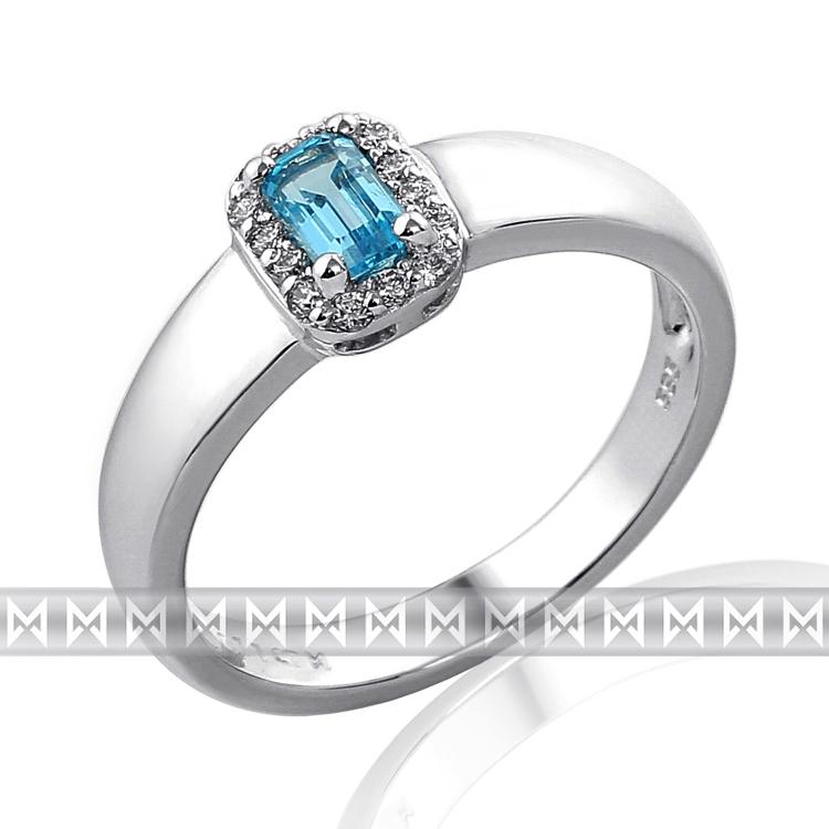 Prsten s diamanty a topazem 3862059-0-54-93