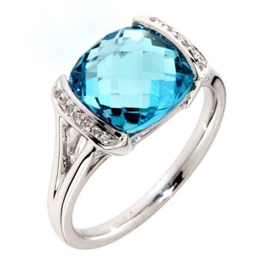 Prsten s diamanty a topazem Briline 386-1034.0.53.93