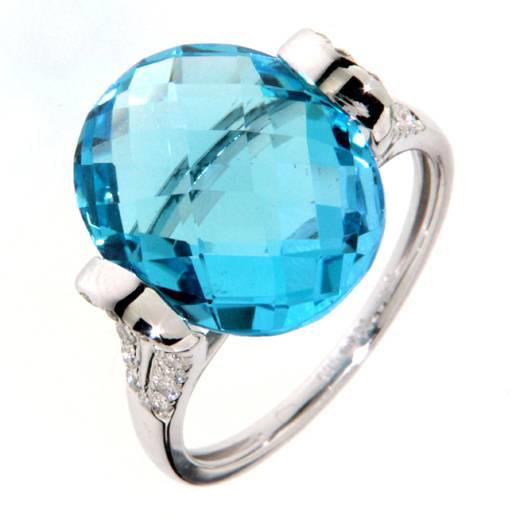 Prsten s diamanty a topazem Briline 386-1002.0.57.93