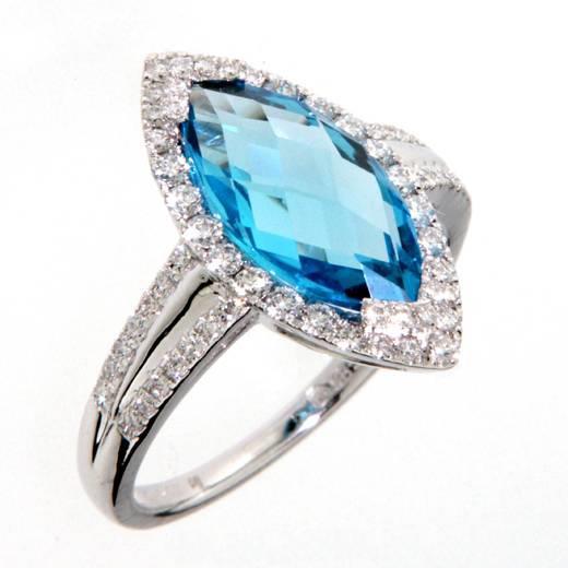 Prsten s diamanty a topazem Briline 386-1019.0.53.93