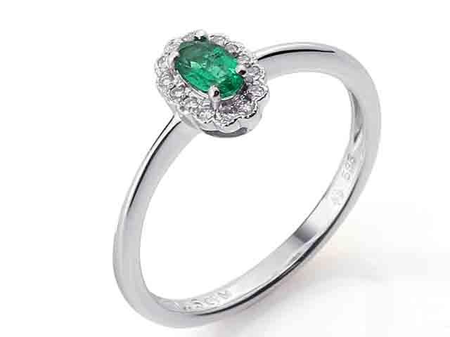 Prsten s diamanty a smaragdem 3861084-0-53-96