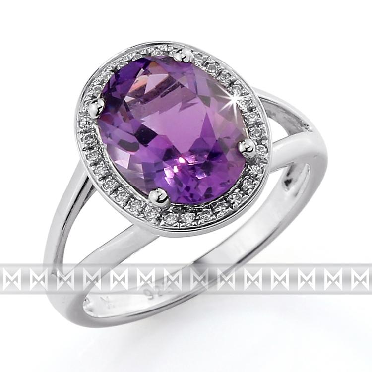 Prsteny Prsten S Diamanty A Ametystem Briline 3860551 0 56 95