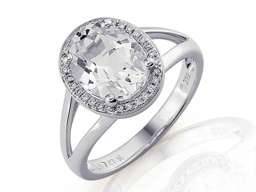 Prsten s diamanty a topazem Briline 3860550-0-54-82