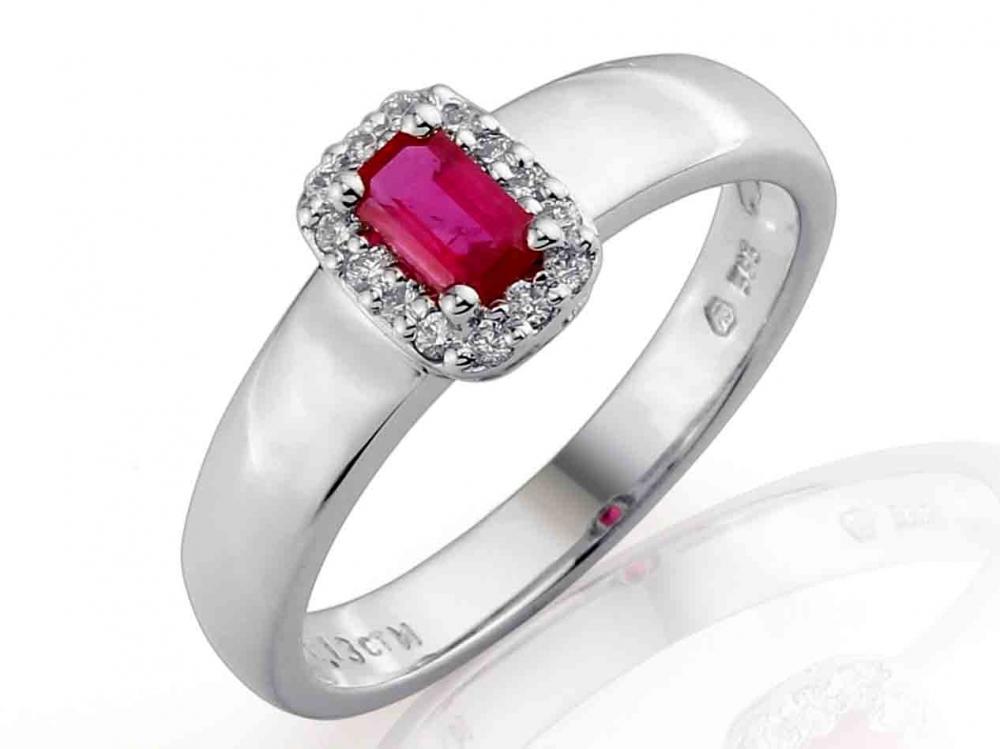 Prsten s diamanty a rubínem 3860323-0-54-94