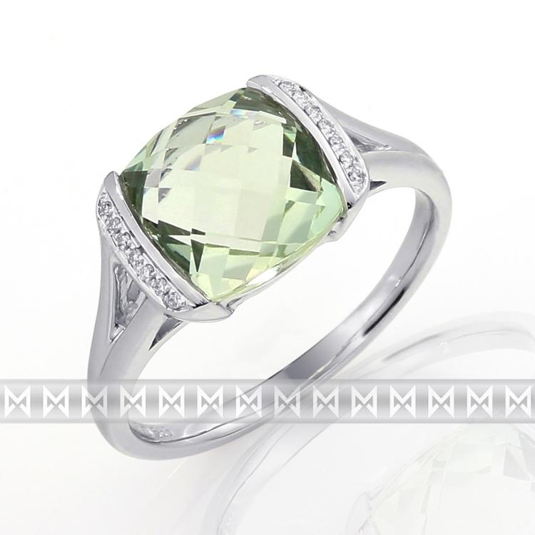 Prsten s diamanty a ametystem 3861040-0-61-83