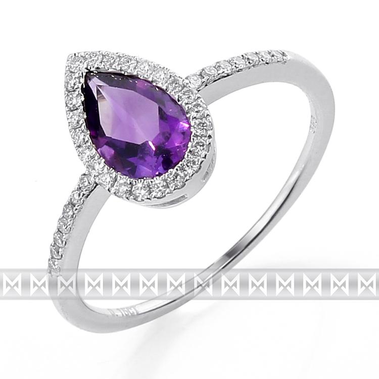 Prsten s diamanty a ametystem 3861705-0-53-95