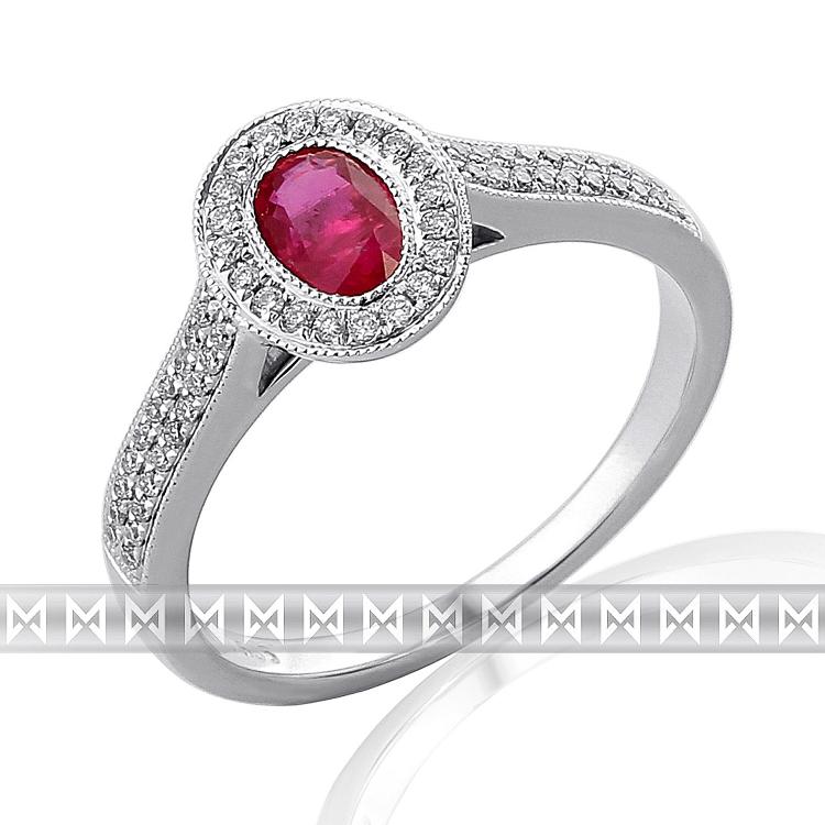 Prsten s diamanty a rubínem 3861996-0-55-94