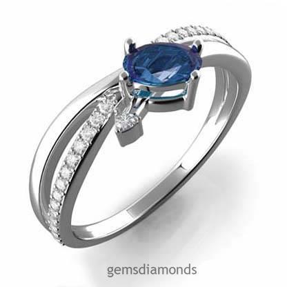 Prsten s diamanty a safírem Briline 386-0504-safir  dadcdacf097