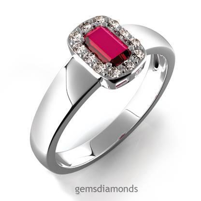 Prsten s diamanty a rubínem 386-0136-rubin
