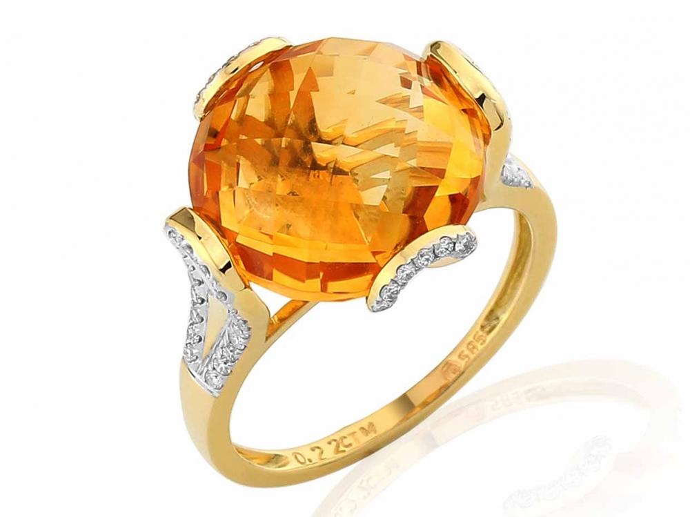 Diamantový prsten s citrínem 3810991-5-53-80