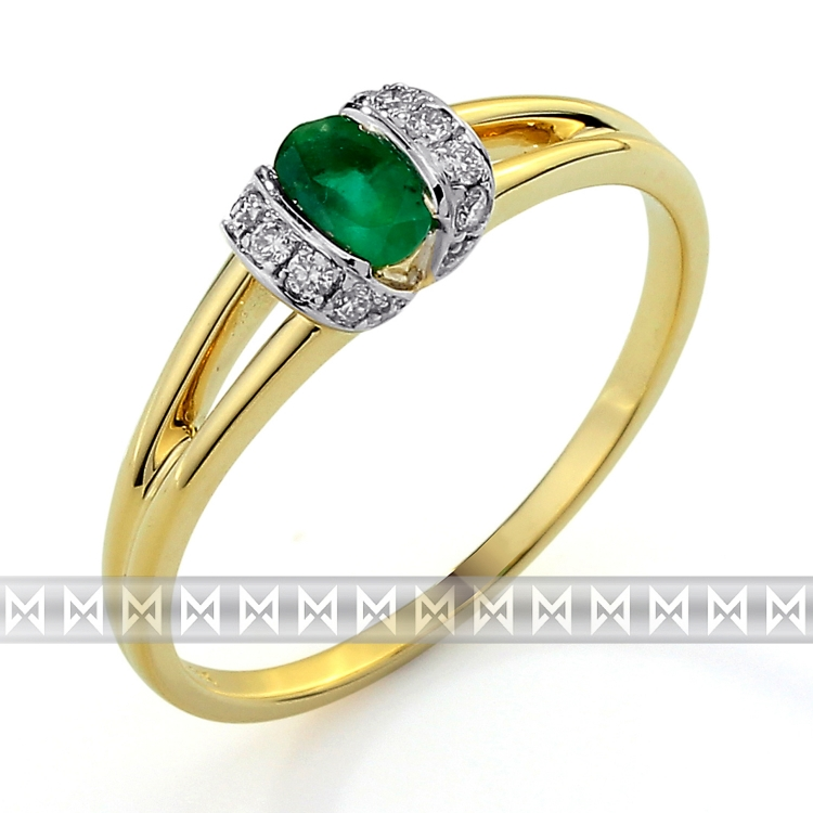 Diamantový prsten se smaragdem 3811690-5-54-96