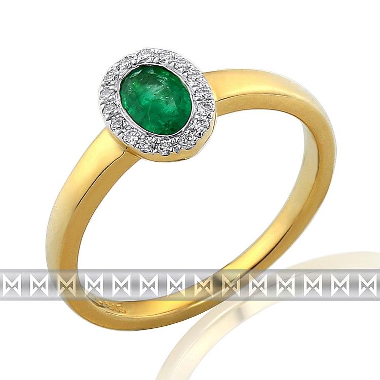 Diamantový prsten se smaragdem Briline 3811072-5-54-96