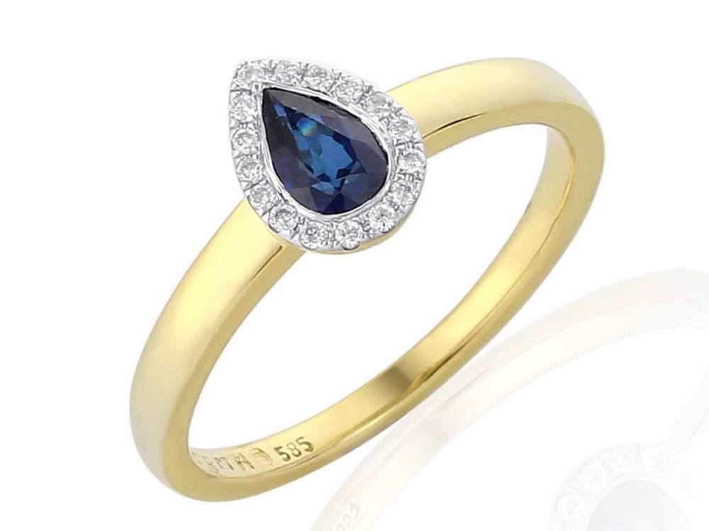 Diamantový prsten se safírem 3811710-0-56-92