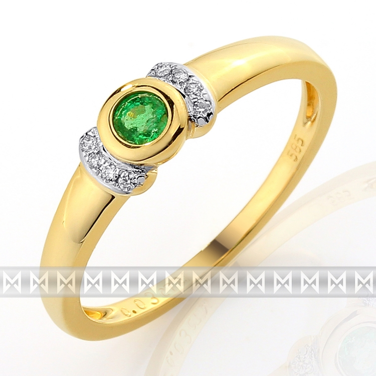 Diamantový prsten se smaragdem Briline 3811603-5-55-96