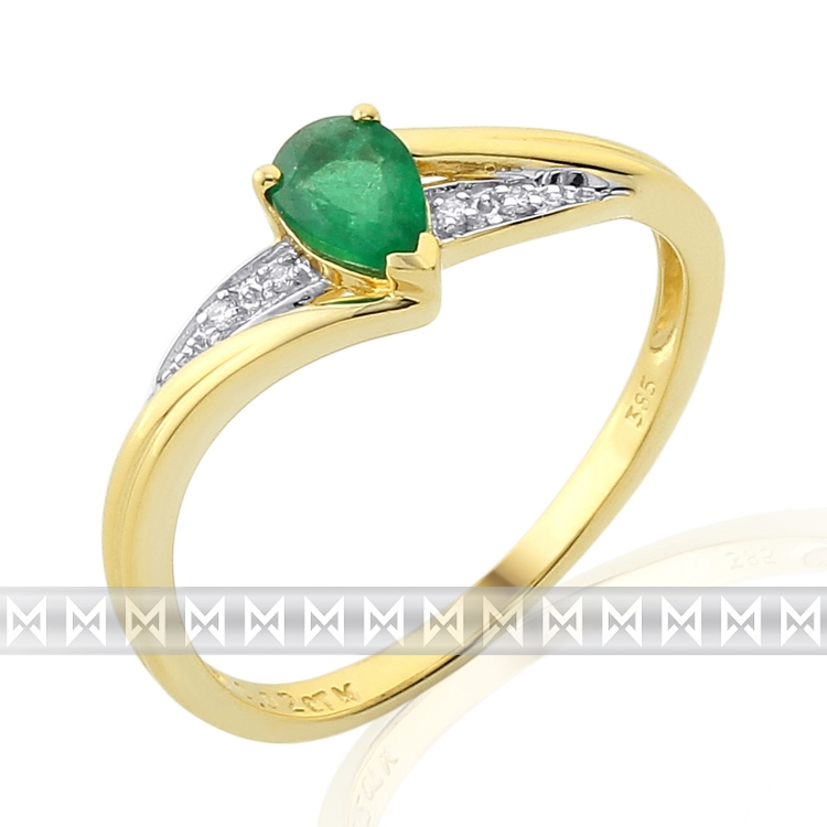 Diamantový prsten se smaragdem Briline 3811946-5-55-96