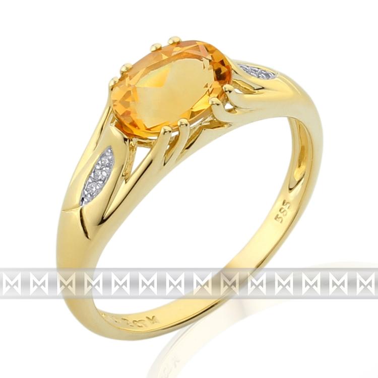 Diamantový prsten s citrínem 3811900-5-55-80