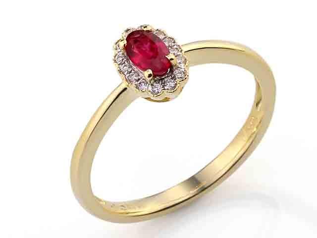Diamantový prsten s rubínem 3811087-5-54-94