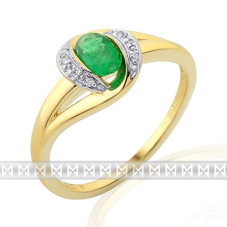 Diamantový prsten se smaragdem 3811936-5-54-96