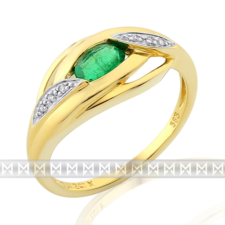 Diamantový prsten se smaragdem 3811913-5-55-96