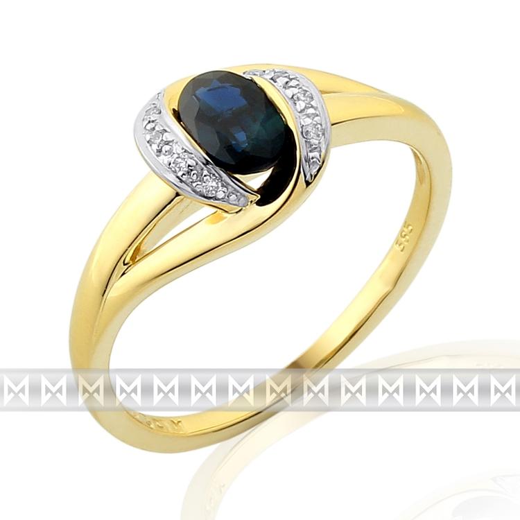 Diamantový prsten se safírem 3811930-5-55-92