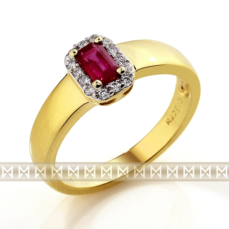 Diamantový prsten s rubínem 3810321-5-54-94
