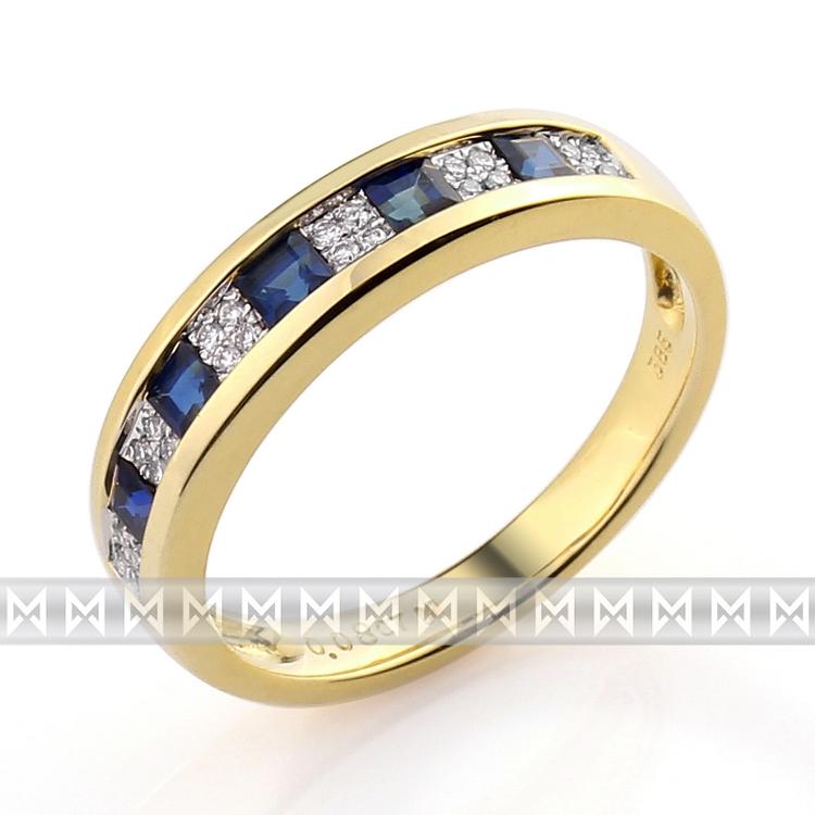 Diamantový prsten se safírem 3810499-5-55-92