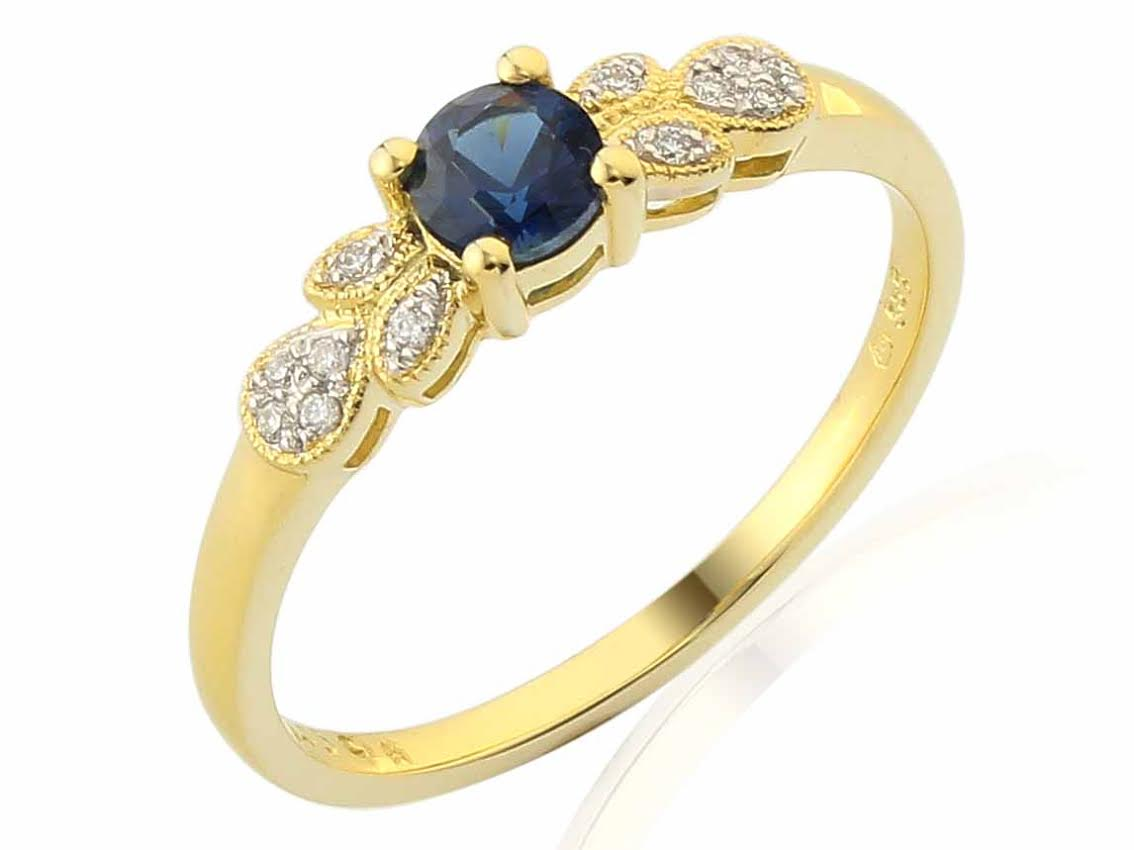 Diamantový prsten se safírem 3810304-5-53-92