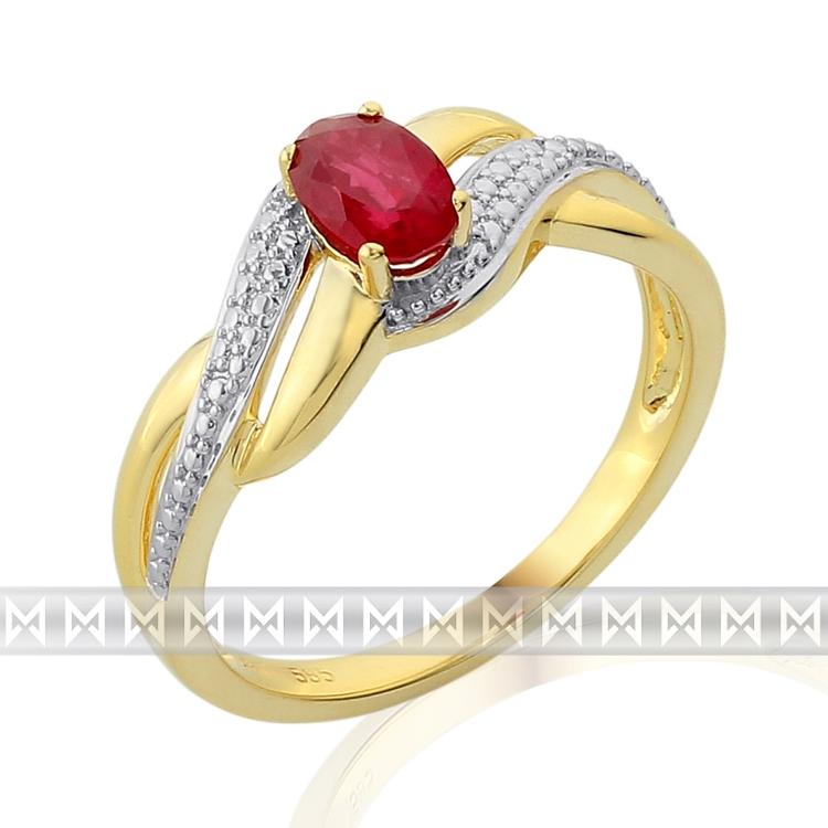 Zlatý prsten s rubínem 3811740-5-55-94