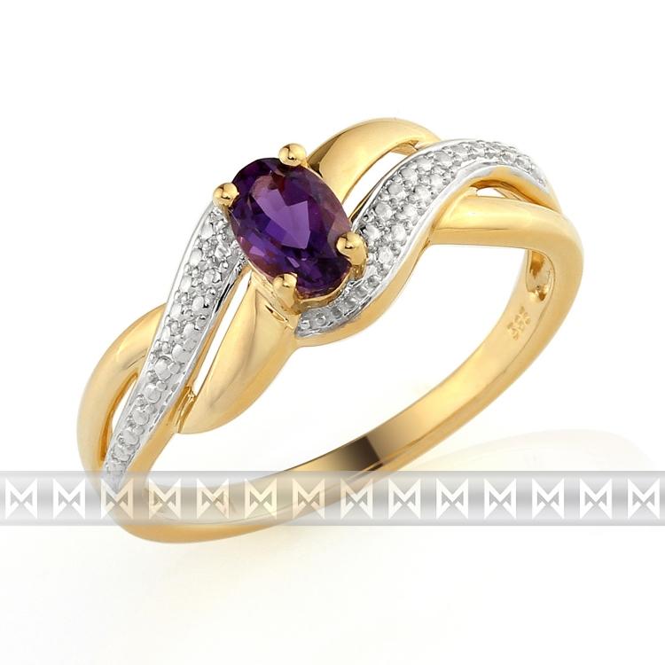 Prsteny Zlaty Prsten S Ametystem Briline 3811741 5 57 95