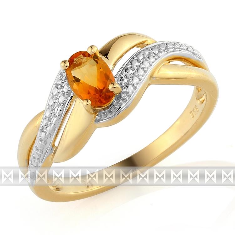 Zlatý prsten s citrínem 3811745-5-54-80