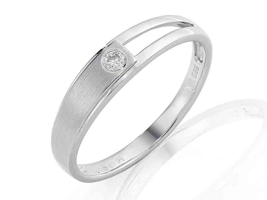 Zásnubní prsten s diamantem Briline, bílé zlato brilianty 3861188-1-54-99