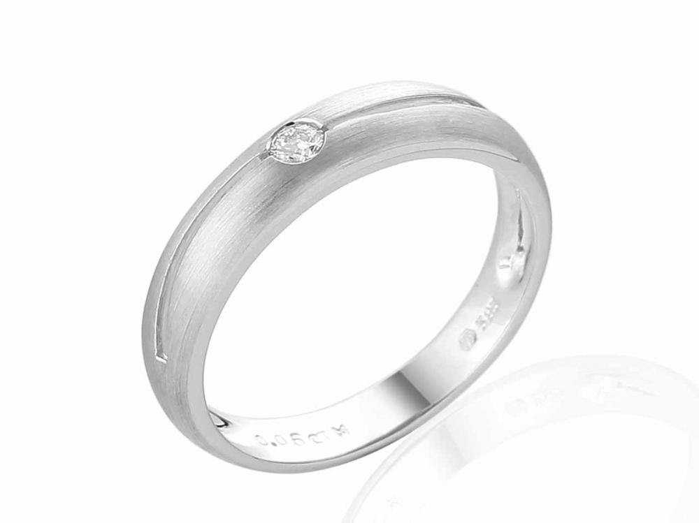 Zásnubní prsten s diamantem Briline, bílé zlato brilianty 3861180-1-55-99