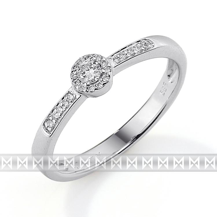 Zásnubní prsten s diamantem Briline, bílé zlato brilianty 3861262-0-54-99
