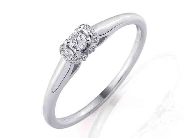Zásnubní prsten s diamantem Briline, bílé zlato brilianty 3860844-0-53-99