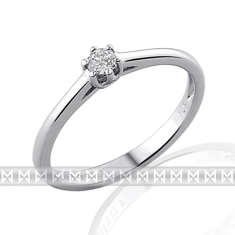 Zásnubní prsten s diamantem Briline, bílé zlato brilianty 3860880-0-52-99
