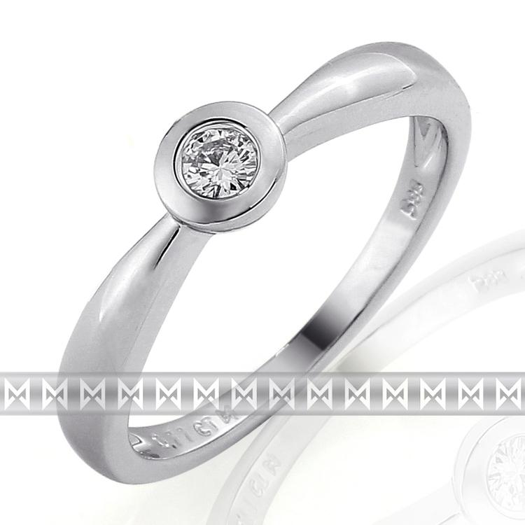 Zásnubní prsten s diamantem Briline, bílé zlato brilianty 3860683-0-50-99