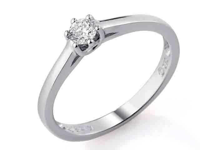 Zásnubní prsten s diamantem Briline, bílé zlato brilianty 3860879-0-53-99