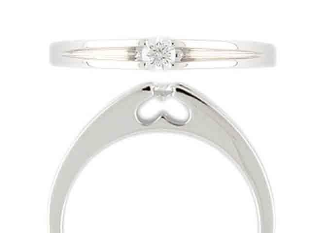 Zásnubní prsten s diamantem Briline, bílé zlato brilianty 3860667-0-52-99
