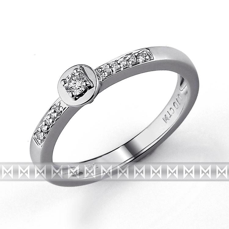 Zásnubní prsten s diamantem Briline, bílé zlato brilianty 3861272-0-53-99